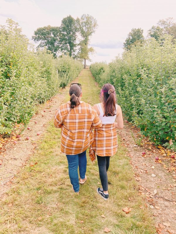 Stacey Lee Apple Picking Mother and Daughter