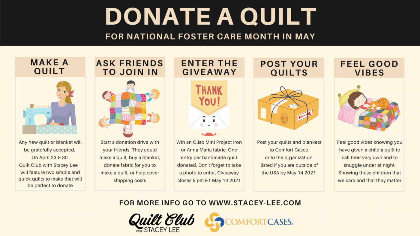 Donate a quilt infographic
