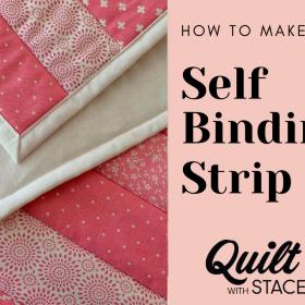 Self binding quilt