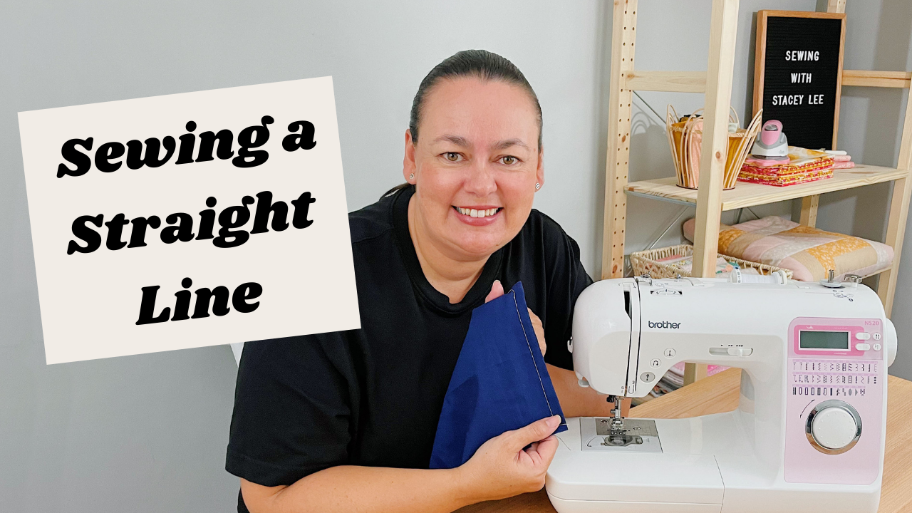 Sewing a straight line